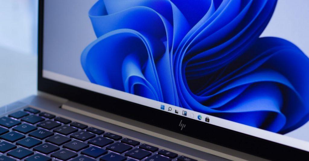 Windows 11 Interface on Laptop Screen