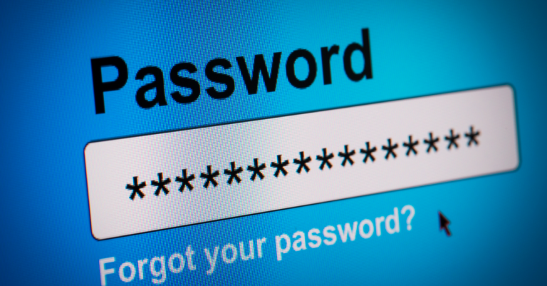 password and username fields on a laptop